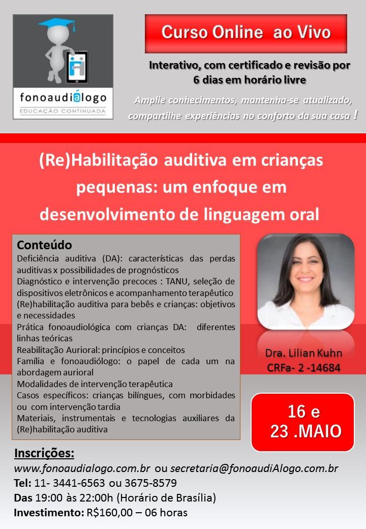 Curso online com a Dra. Lilian Kuhn