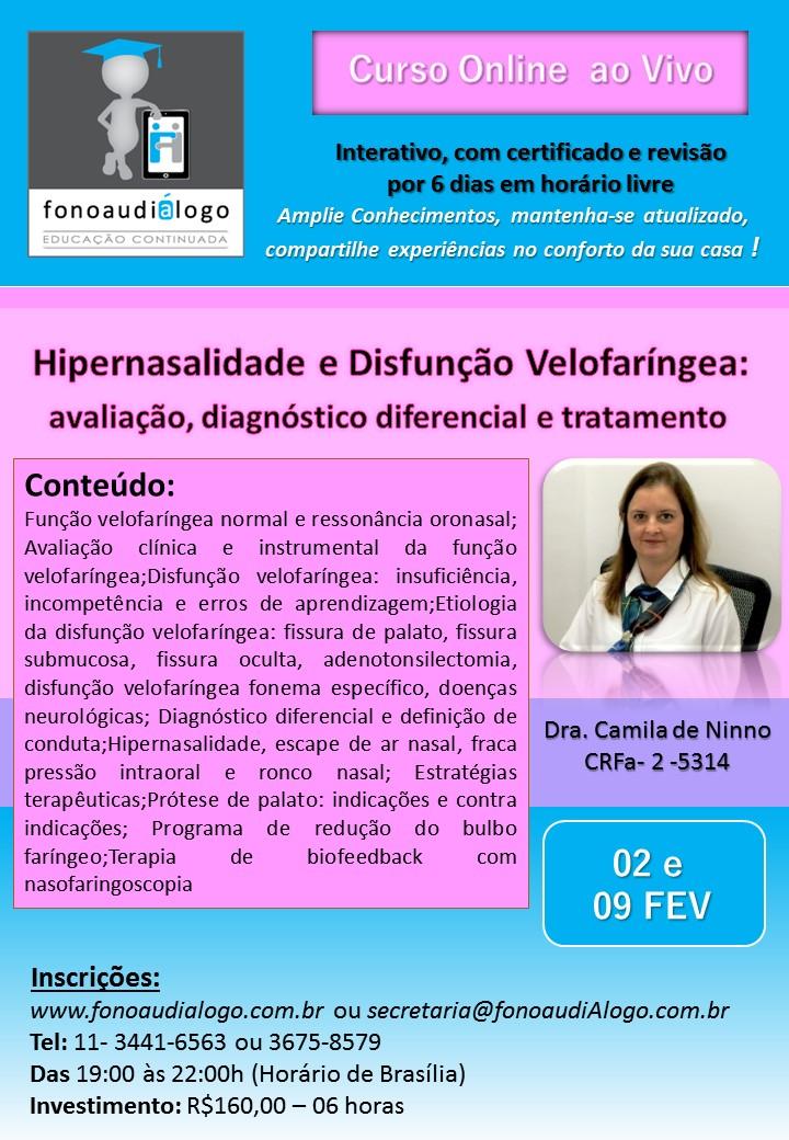 Curso online com a Dra. Camila de Ninno