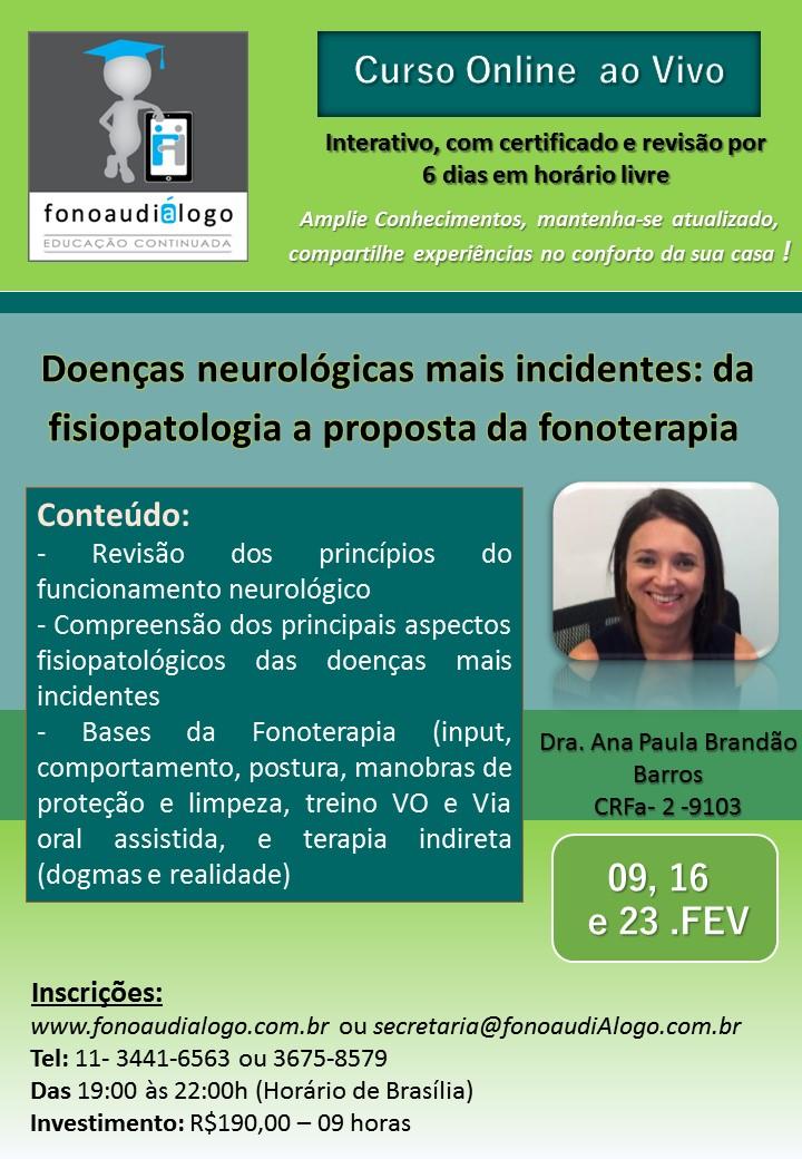 Curso inédito com a Dra. Ana Paula B. Barros