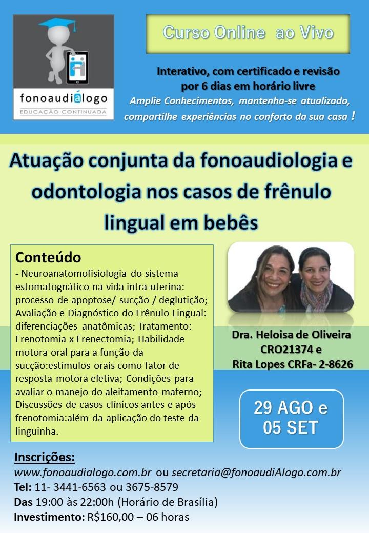 Fono e Odonto nos casos de Frênulo Lingual