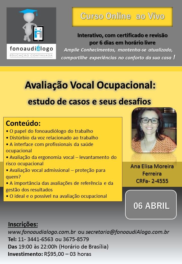 Avaliação Ocupacional Vocal