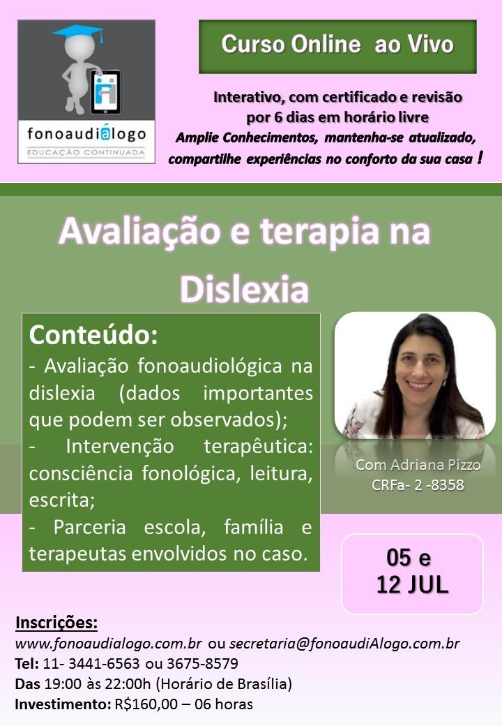 Avaliação e Terapia da Dislexia