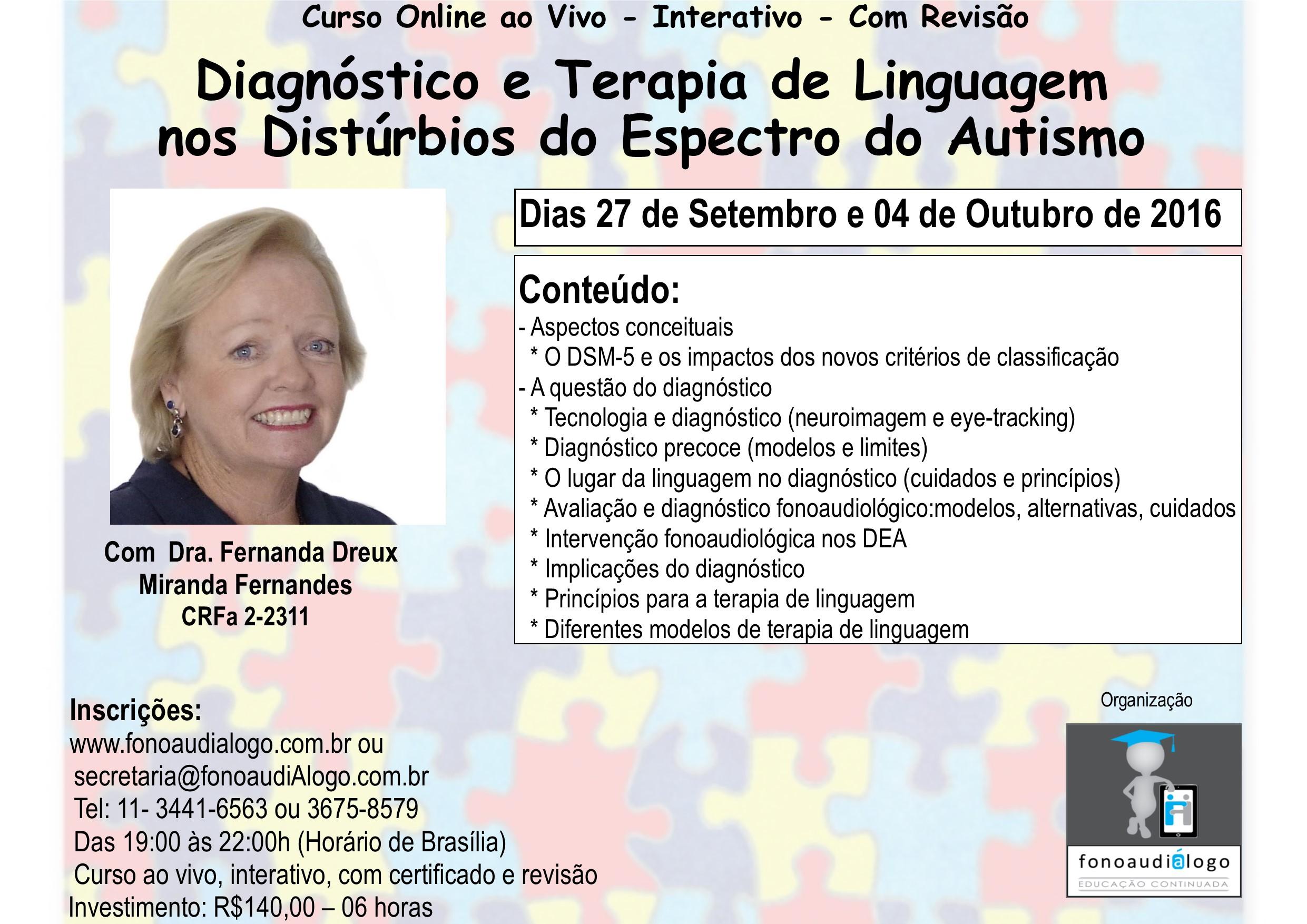 Curso online com a Dra. Fernanda Dreux
