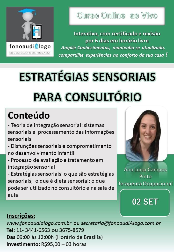 Curso online com a TO Ana Luisa Campos