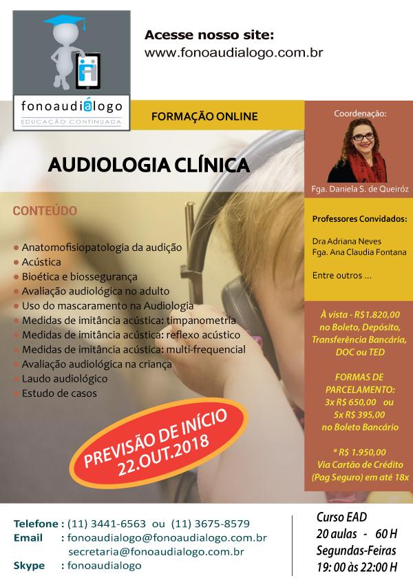 Curso de Formação em Audiologia Clínica - 60 horas
